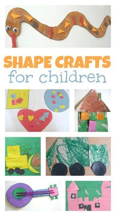 15 Shape Crafts For Kids - No Time For Flash Cards