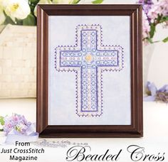 Beaded Cross from the Mar/April 2017 issue of Just CrossStitch Magazine. Order a digital copy here: https://www.anniescatalog.com/detail.html?prod_id=135862