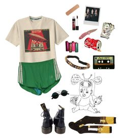 """zeplin"" by uxly ❤ liked on Polyvore featuring Retrò, adidas, DuWop, Dollhouse, Gypsy SOULE, Michele and Dr. Martens"