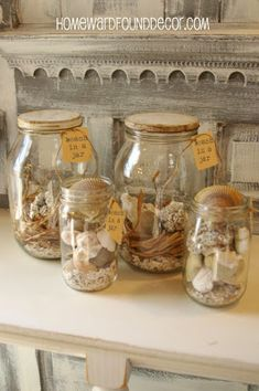 5 Ideas For Seashell Displays Including Beach In A Jar And Number
