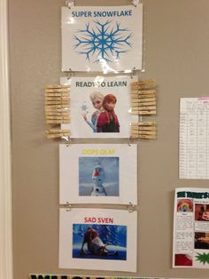 Frozen behavioral chart I made for my 3's!!!!