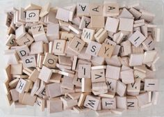 Lot 1000+ Vintage & Modern Wood SCRABBLE TILES Replacement Craft Art DIY Anagram by eclecticka on Etsy