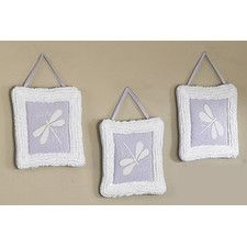 3 Piece Purple Dragonfly Dreams Wall Hanging Set