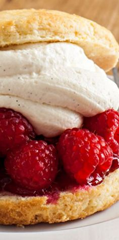 Raspberry and Cream Shortcake -- don't know if I'd ever make this; it sure looks good though!