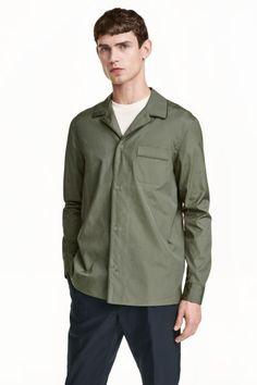 棉府绸衬衫 | H&M