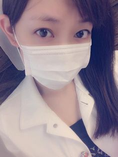 she's so cute when use the mask :v #渡辺美優紀