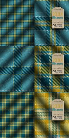 Six realistic plaid fabric patterns in a nautical and preppy color palette. Great for any designs you have in mind. Fully compatible with Adobe Photoshop CS. Textile Pattern Design, Textile Patterns, Pattern Paper, Whale Shirt, Tartan Pattern, Diy Crafts For Gifts, Layer Style, Plaid Fabric, Color Stories