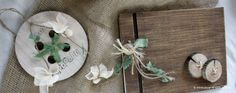 Dominant element of baptism, as is also indicated by its title, is wood and concrete wooden button. Christening Decorations, Button, Baptism Decorations, Buttons, Knot