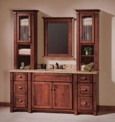 "bathroom vanity with cabinet tower | 60"", 63"", 66"", or"