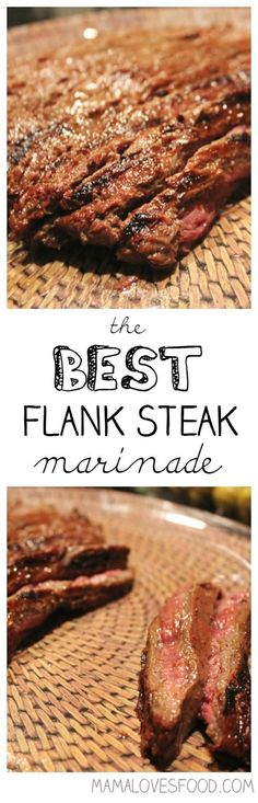 The BEST Flank Steak Marinade.I love to grill in the summer and new marinated steak grilling recipes are the best!