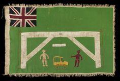 Africa | Fante people, Ghana | Asafo Flag | Felt Background | Circa 1930 - 50s | 65ins x 41 ins