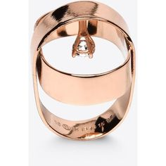 Maison Margiela 11 Ring (€170) ❤ liked on Polyvore featuring jewelry, rings, copper, engraved rings, maison margiela and engraved jewelry
