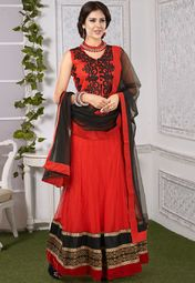 Admyrin Red Embroidered Lehenga Online Shopping Store