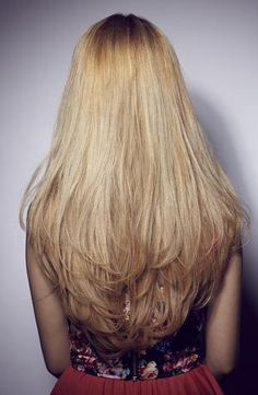 long layered hair-- the cut i'd love the give someone! <3