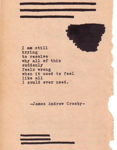 Typewriter Poetry #405 by James Andrew Crosby