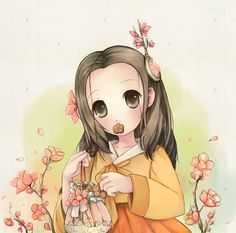 hanarang,flower,pritty girl Pritty Girls, Flowers, Anime, Art, Art Background, Kunst, Cartoon Movies, Anime Music, Performing Arts