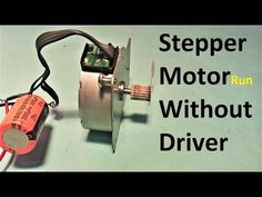Stepper Motor Run Without Driver ( Electronic Circuit Design, Electronic Engineering, Arduino Projects, Circuit Projects, Electronics Components, Electronics Projects, Arduino Stepper Motor Control, Circuit Board Design, Motor Speed