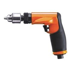 "Air Drill, Industrial, Pistol, 1/4 In. Air DrillsRequired psi: 90 Air inlet: 1/4"" NPTAir Drill, Industrial Duty, Pistol Style, 1/4 In. Chuck Size, Free Speed 3200 rpm, 3/8 HP, Geared Drill Chuck Type, 2.8 Average CFM @ 15 Second Run Time, 16 CFM @ Full Load, Required Pressure 90 psi, Air Inlet 1/4 In. NPT, Min. Hose Size 5/16 In., Composite Handle Material, No Variable Speed, Trigger Throttle Type, Reversing No, Ball BearingsSingle Gear Train, Overall Length 5-11/16 In.Tool Weight 1.50…"