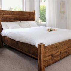 The craftsmen at Modish Living are feeling pretty proud after seeing their LazyDays Reclaimed Wood Bed after the Photoshoot #reclaimed #woodbed #bedroomfurniture #britishmade #madeinengland #solidwoodbed #rusticbed #interiors
