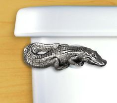 Hahahaha seriously?!? Florida Gator Toilet Flush Handle in Pewter