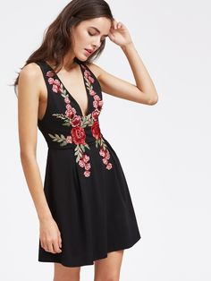 Shop the look  Rosed Out Black Cocktail Dress from BusyDayShopping 73bd807c8d7b