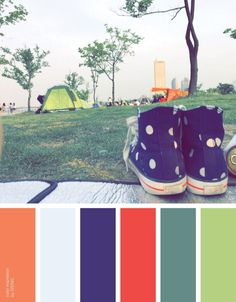 [color inspiration & photo by SISING] picnic, relax, park, camping