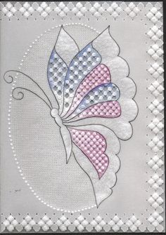Any occasion card Má Applique Patterns, Applique Quilts, Craft Patterns, Quilt Patterns, Embroidery Stitches, Hand Embroidery, Embroidery Designs, Parchment Design, Parchment Cards