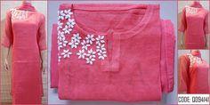 To customize, whatsapp 9043230015 for Saree, Blouse and Kurtis Churidar Pattern, Kurta Patterns, Dress Patterns, Kurtha Designs, Blouse Designs, Hand Work Design, Hand Embroidery Dress, Churidar Designs, Indian Attire