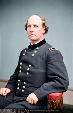 General Stephen Augustus Hurlbut:  Commanded the the 4th Division of the Army of the Tennessee at Shiloh and Corinth.  Died March 27, 1882 in Lima, Peru, where he was serving as U. S. Ambassador, at  age 66.  Buried in Belvidere Cemetery, Belvidere, Illinois.