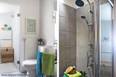 Fresh and bright bathroom by #eNJOY architects.