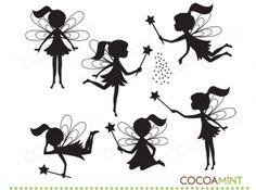 Fairy silhouette for invites