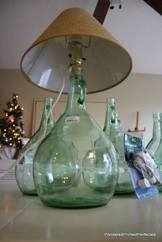 Pondered.Primed.Perfected: Glass Wine Bottles Lamps