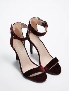 Velurové sandály na vysokém podpatku GOLD LABEL, MOHITO, QZ601-93X