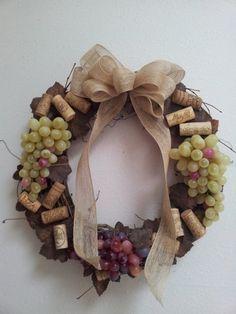 Wine Cork Grapevine Wreath by KBKreationsShop on Etsy