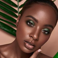 black women models in bikini panties string Black Girl Makeup, Girls Makeup, Green Makeup, Nadirah Ali, Afro, Looks Black, Model Face, Beauty Shots, Brown Skin