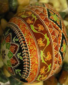 Goose Egg Pysanka by Katrina Lazarev, Ukraine, from Iryna with love