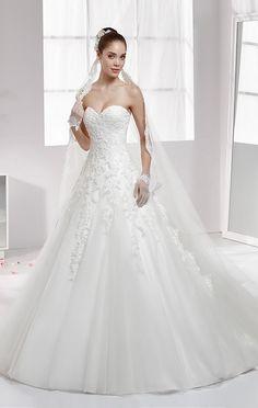 nicole spose sweetheart a-line wedding dress / http://www.himisspuff.com/sweetheart-wedding-dresses/3/