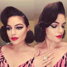 Sydney Ralston Victory Rolls, Pin Up Hair, Vintage Hairstyles, Gorgeous Hair, Sydney, Hair Styles, Instagram Posts, Fashion, Hair Plait Styles