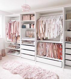Bedroom Closet Design, Girl Bedroom Designs, Room Ideas Bedroom, Home Room Design, Closet Designs, Wardrobe Design, Dressing Room Decor, Dressing Room Design, Dressing Room Closet