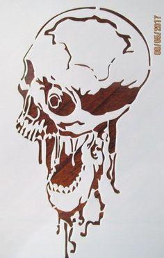 Screaming-Skull-Stencil-Reusable-10-mil-Mylar-Stencil