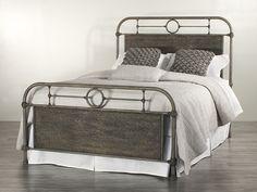 1369 Danville Industrial Iron Bed Headboard H 58 Footboard H 32 Queen $1125 King $1300 #Showroom