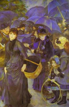 Renoir, Umbrellas   I saw this in London several years in ago.  Largert than I expected and wonderful.