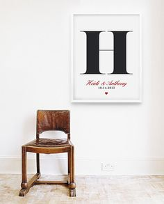 Wedding Gift Personalized Custom Monogram Wedding by loopzart, $20.00
