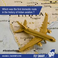 Do you know which was the first domestic route in the history of Indian aviation? ‪#‎AviationHistory‬