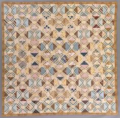 Quilt, 'Lady of the Lake' | LACMA Collections Quilt, 'Lady of the Lake' United States, Virginia, circa 1840 Textiles; quilts Pieced and quilted cotton 98 1/2 x 98 1/2 in. (250.2 x 250.2 cm) American Quilt Research Center Acquisition Fund (M.87.226.2)