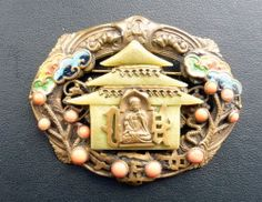 Art Deco Max Neiger Buddha Brooch