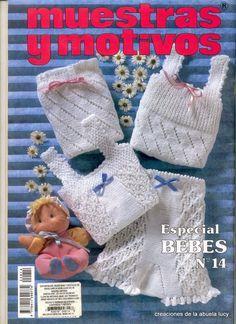 "Photo from album ""Muestras y Motivos on Yandex. Baby Knitting Patterns, Baby Patterns, Crochet Patterns, Knitting Books, Crochet Books, Hand Knitting, Crochet For Kids, Crochet Baby, Knit Crochet"