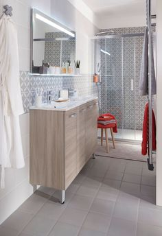 Thrill Your Site visitors with These 14 Cute Half-Bathroom Layouts Modern Bathroom, Small Bathroom, Unwanted Furniture, Restroom Remodel, Rack Design, Shower Panels, Tiny Spaces, Small Space, Bathroom Colors