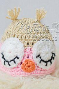 Free Owl Hat Crochet Pattern - Sleeping & Awake
