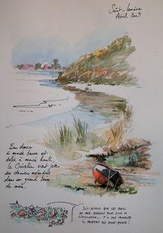 Drawing Journal, Watercolor Sketchbook, Art Sketchbook, Watercolor Architecture, Watercolor Landscape, Watercolor Paintings, Watercolour, Illustrations, Illustration Art